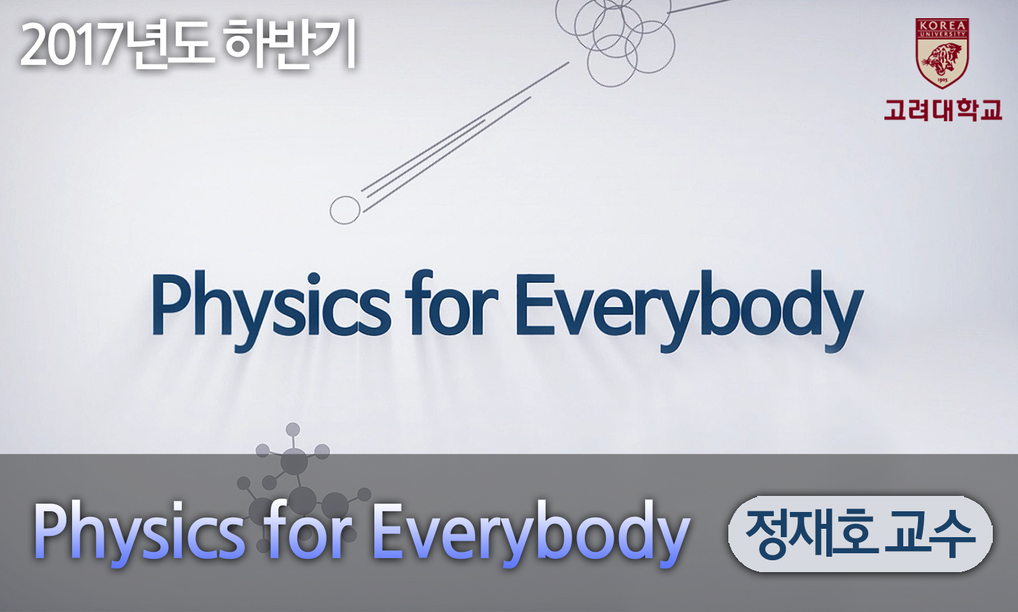 Physics for Everybody 개강일 2017-10-09 종강일 2018-01-21 강좌상태 end